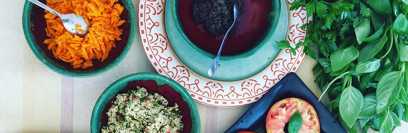 Plusieurs plats cuisinés