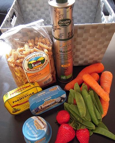 Image d'un panier avec plusieurs produits