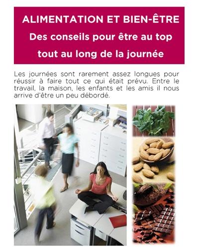 Affiche d'une conférence «Alimentation et bien-être»