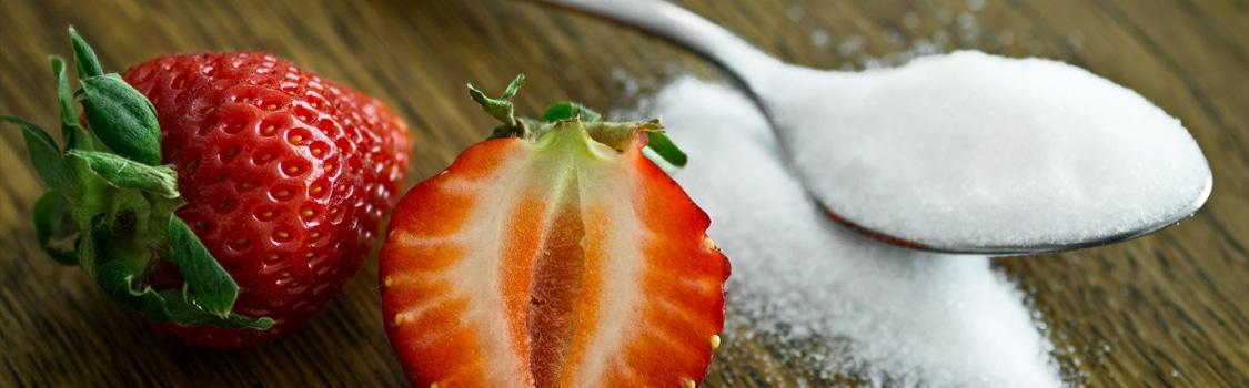 Fraises avec du sucre