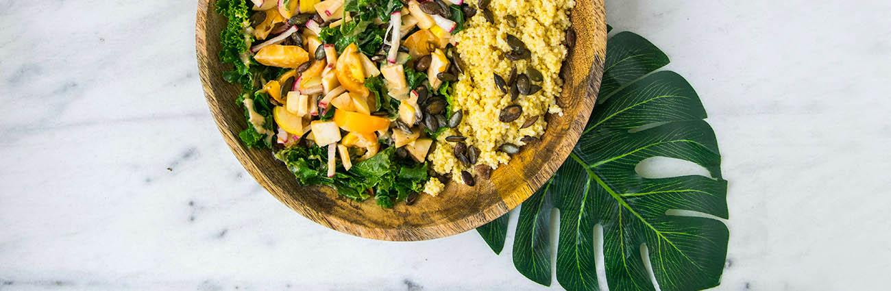 bol aliment quinoa végétarien